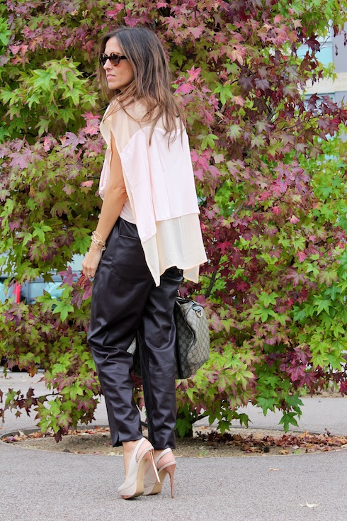 Autumn shades leather pants www.lostinvogue.com 1