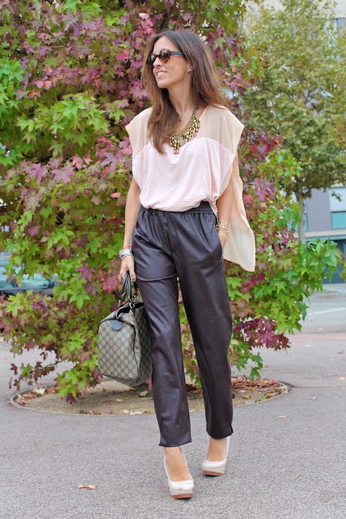 Autumn shades leather pants www.lostinvogue.com 6