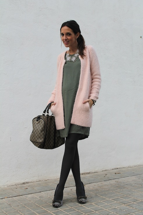 Green&Pink maternity looks bloggers 1