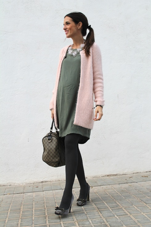 Green&Pink maternity looks bloggers 4