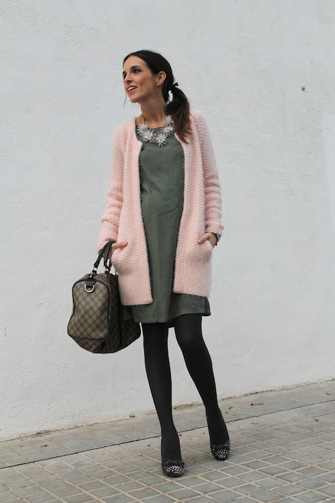 Green&Pink maternity looks bloggers 8