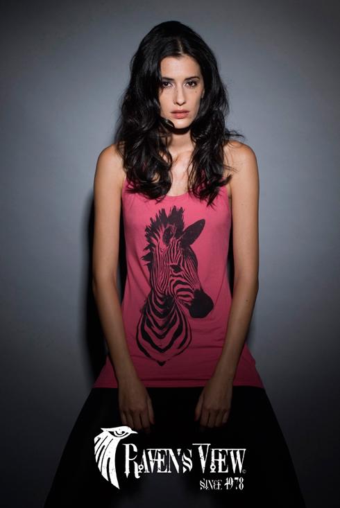 Raven's View Camiseta Cebra Woman