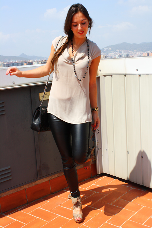 Leather pants + Nude 01