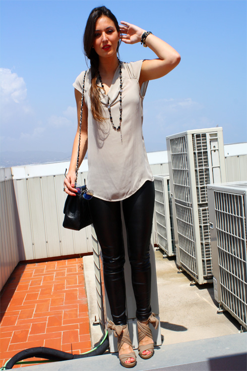 Leather Pants + Nude