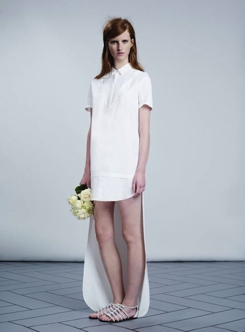 Viktor-Rolf-ivory-shirtdress-with-train-spring-2014-price-upon-request
