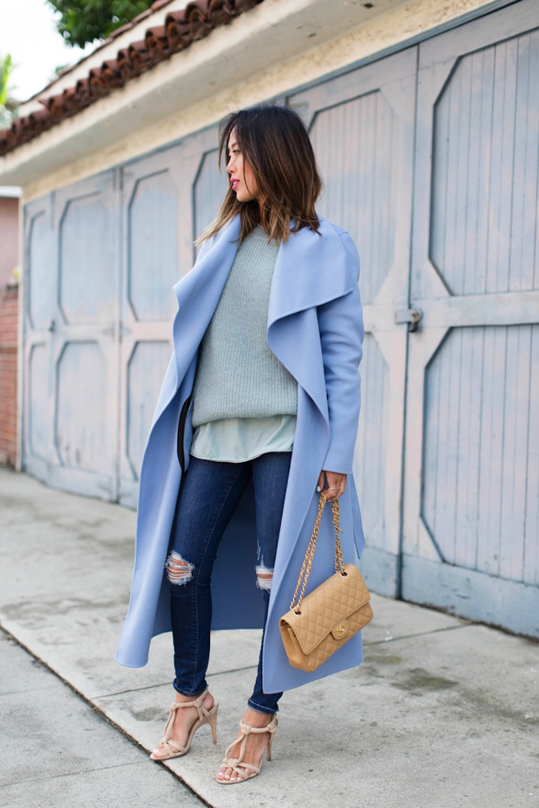 aimee_song_of_style_mint_knit_sweater_blue_mackage_coat