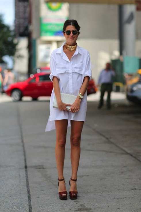 white-shirtdress-spring-trend-Leandre-Medrine-Man-Repeller-street-style-photo-by-Diego-Zuko-via-Harpers-Bazaar